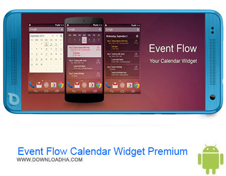 Event Flow Calendar Widget Premium  دانلود Event Flow Calendar Widget Premium v1.5.4 – اندروید
