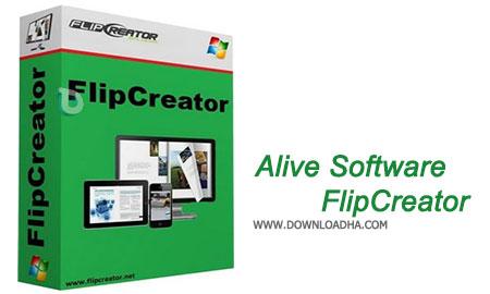 Alive Software FlipCreator نرم افزار ساخت نشریه های الکترونیکی Alive Software FlipCreator 4.9.0.9