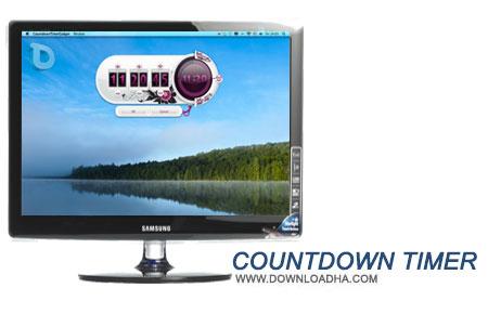 Countdown Timer گدجت بسیار زیبای شمارش معکوس Countdown Timer Gadget 1.4   نسخه Mac