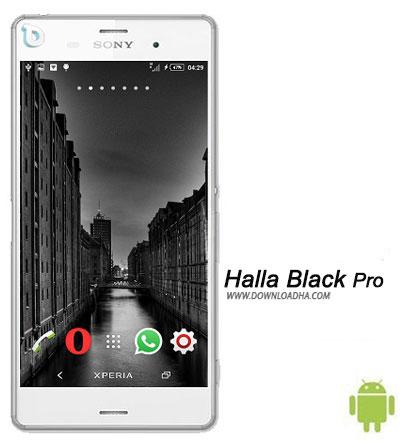 Halla Black Pro دانلود تم بدون نیاز به روت Halla Black Pro برای گوشی های اکسپریا