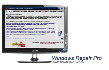 Windows Repair Pro نرم افزار تعمیر ویندوز Windows Repair Pro 3.2.3