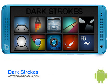 Dark Strokes دانلود برنامه Dark Strokes (Launcher Theme) v12.1   اندروید