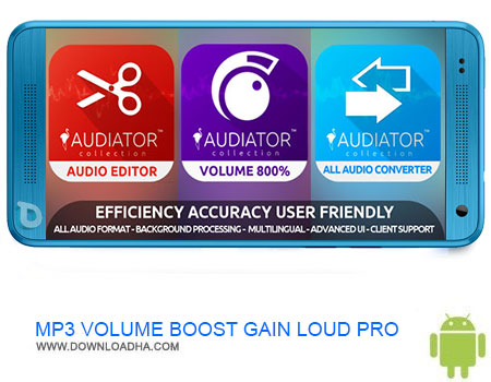 MP3 VOLUME BOOST GAIN LOUD PRO دانلود برنامه MP3 VOLUME BOOST GAIN LOUD PRO v2.0   اندروید
