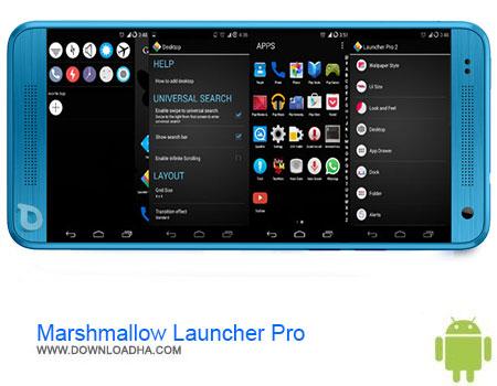 Marshmallow Launcher Pro دانلود برنامه Marshmallow Launcher Pro v10   اندروید