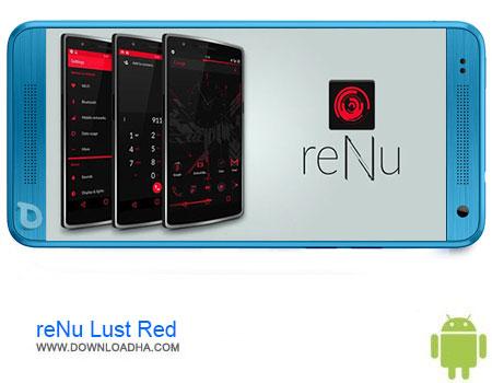 reNu Lust Red دانلود تم reNu Lust Red CM11 CM12 v3.2   اندروید