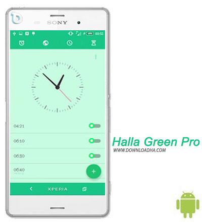 Halla Green Pro دانلود تم بدون نیاز به روت Halla Green Pro برای گوشی های اکسپریا