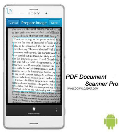 PDF Document Scanner Pro  اسکن متون و تبدیل به PDF با PDF Document Scanner Pro v3.8.3.92    اندروید