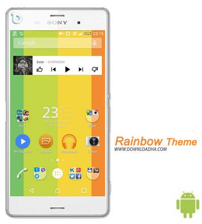 Rainbow Theme دانلود تم بدون نیاز به روت Rainbow Theme برای گوشی های اکسپریا