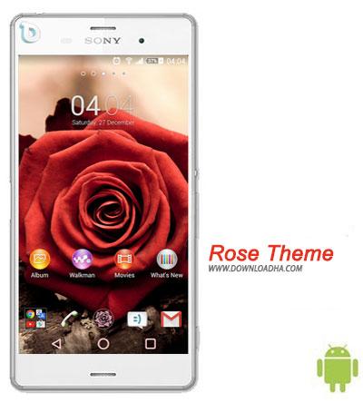 Rose Theme دانلود تم بدون نیاز به روت Rose Theme برای گوشی های اکسپریا