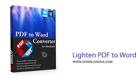 Lighten PDF to Word OCR  نرم افزار تبدیل PDF به ورد Lighten PDF to Word 4.0.0   نسخه Mac