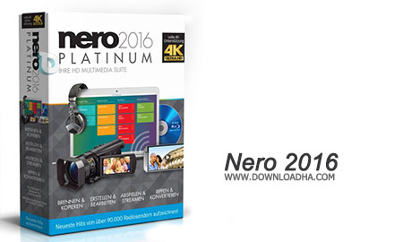 Nero 2016 حرفه ای ترین نرم افزار رایت دیسک در دنیا  Nero 2016 Platinum 17.0.02000 + Content Pack