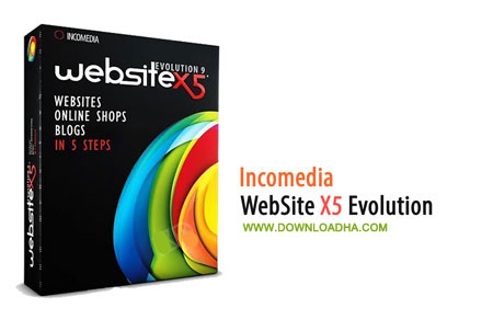 WebSite X5 Evolution  طراحی وبسایت با Incomedia WebSite X5 Professional 12.0.0.12