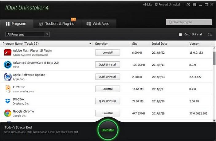 دانلود IObit Uninstaller Pro 8.0.1.24 RC – نرم افزار حذف برنامه ها