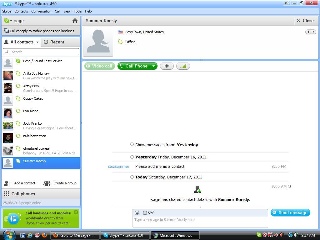 Как сделать свое в скайпе и отправить