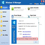 Windows 10 Manager s1 بهینه سازی ویندوز 10 با Yamicsoft Windows 10 Manager 1.1.7