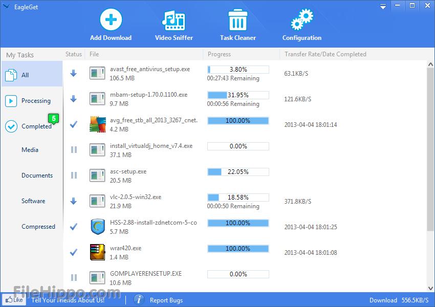 نرم افزار دانلود منیجر ایگل گت EagleGet 2.0.4.70 + Portable